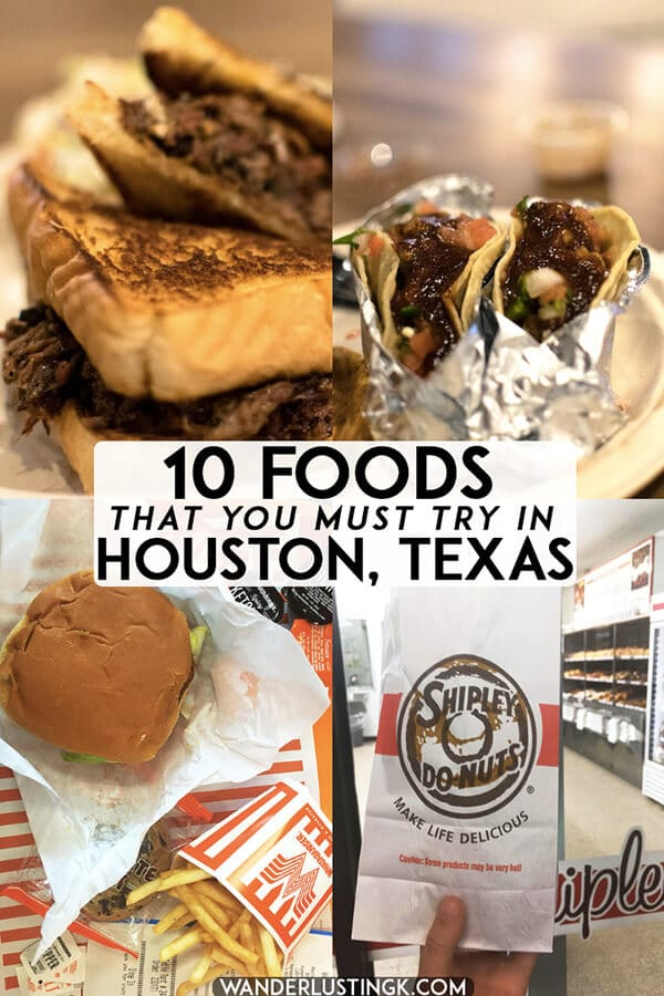 Looking for delicious foods to eat in Houston, Texas? Check out this foodie bucket list for Houston with ten foods that you must try in Houston! #texas #houston #travel #food #foodie