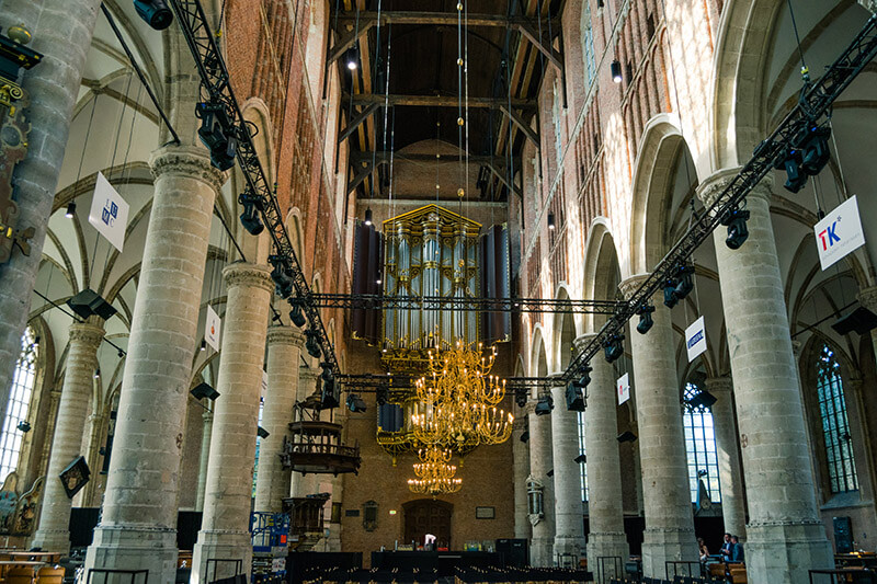 Interior of the Pieterskerk, one of the key filming locations for the Miniaturist in the Netherlands. #travel #netherlands #leiden