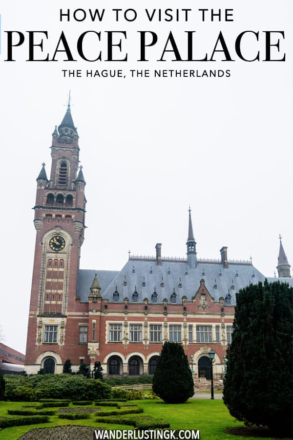 A guide on how to visit the stunning Vredespaleis (the Peace Palace) in the Hague.  This stunning UN building in the Hague is where the International Court of Justice takes place! #travel #holland #peacepalace #denhaag #netherlands #UN