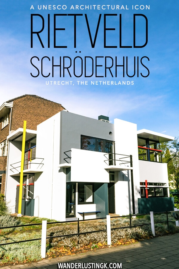 Love architecture and interior design? You need to visit the Rietveld Schröderhuis (Schroder house) in Utrecht, the Netherlands! This De Stijl icon has gorgeous interior that you can view and a fascinating history! #architecture #destijl #netherlands #interiordesign #design