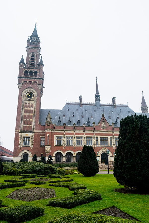 The Peace Palace is one of the attractions of the Hague that can be easily visited with a day trip from Amsterdam by train.