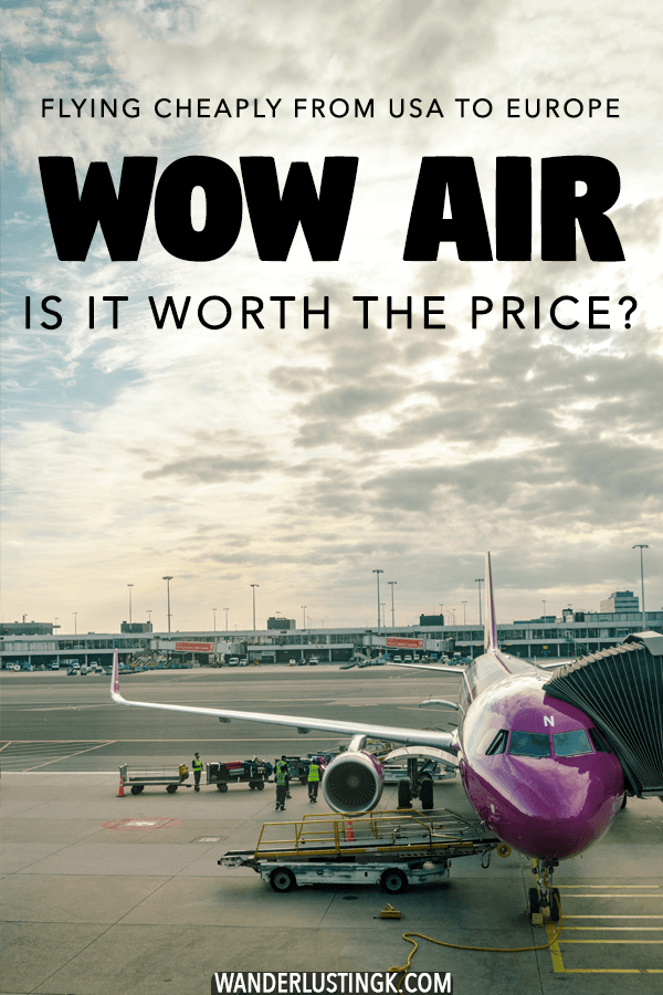 Looking for cheap flights from the United States to europe? Consider flying with WOW air, a budget European airline that flies Transatlantic.  Read a review of flying with WOW air from New York to Amsterdam via Iceland! #travel #airlines #europe