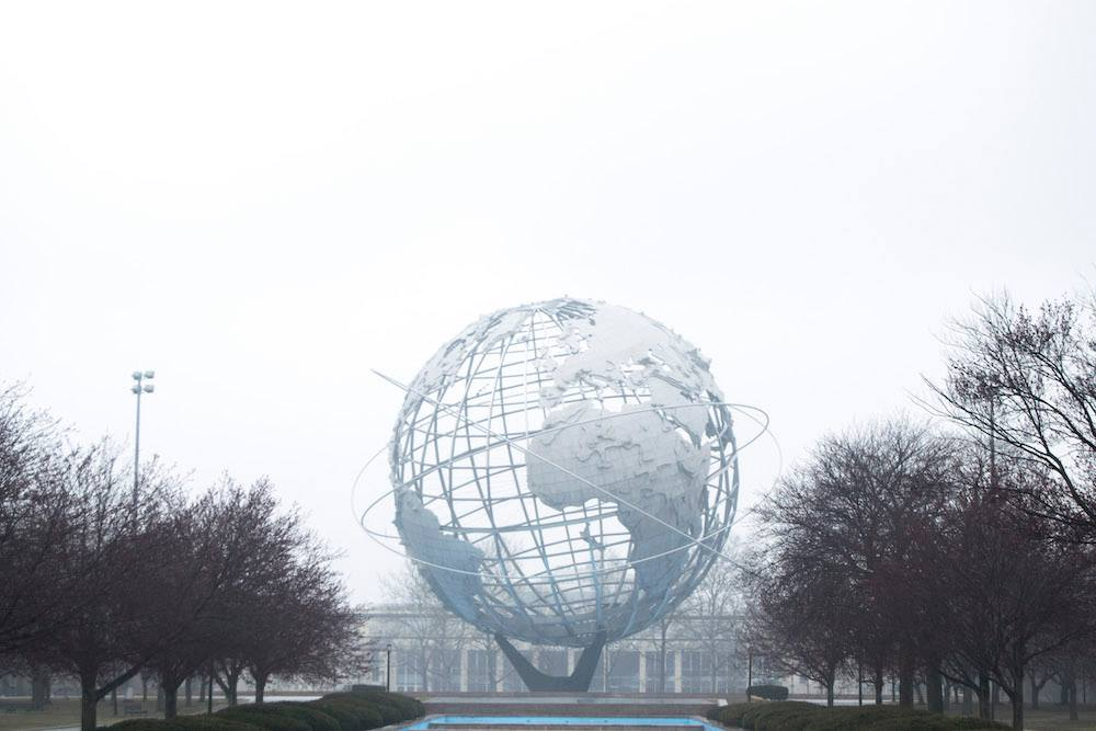 The unisphere in Queens, one of the best things to do in New York City on a budget!