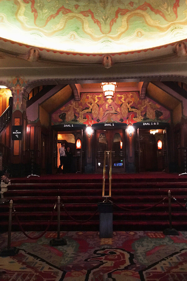 Beautiful art deco theatre in Amsterdam. Pathe Tuschinski is one of the best places to go on a date in Amsterdam. #travel #amsterdam