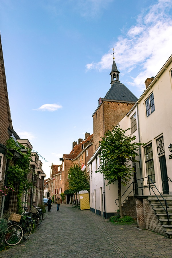 The Thieves Tower, one of the highlights of Amersfoort's architecture.  This beautiful tower was used for imprisoning criminals. #netherlands #nederland #amersfoort #muurhuizen