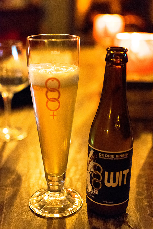 White beer from De Drie Ringen, one of the craft breweries in Amersfoort.  Amersfoort was built on beer, so be sure to try one of the local beers. #craftbeer #amersfoort #bier #nederland