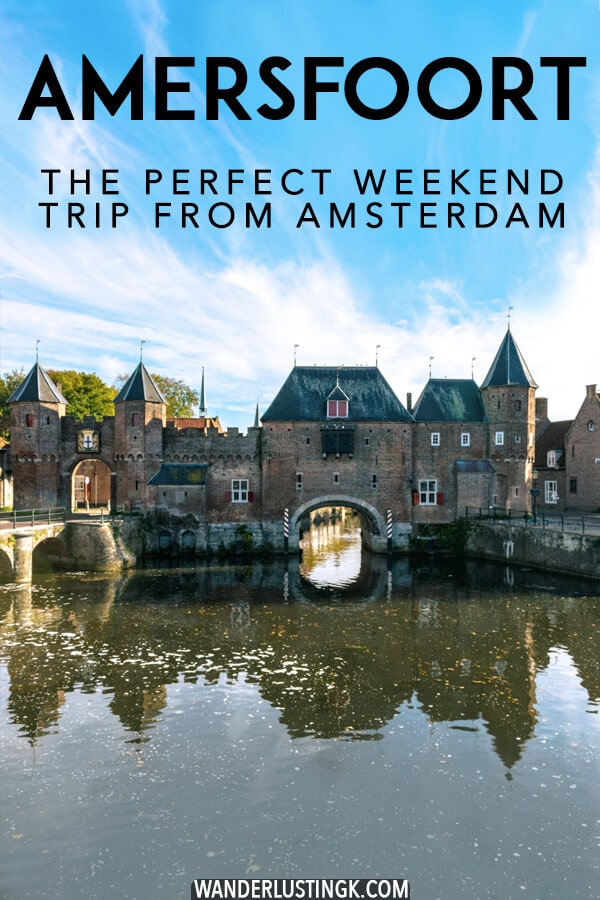 Looking for the perfect day trip from Amsterdam or a romantic weekend trip from Amsterdam? Look no further than Amersfoort, a beautiful Dutch city only 35 minutes from Amsterdam and 15 minutes from Utrecht! Read your perfect itinerary for Amersfoort, the Netherlands! #netherlands #utrecht #nederland #travel