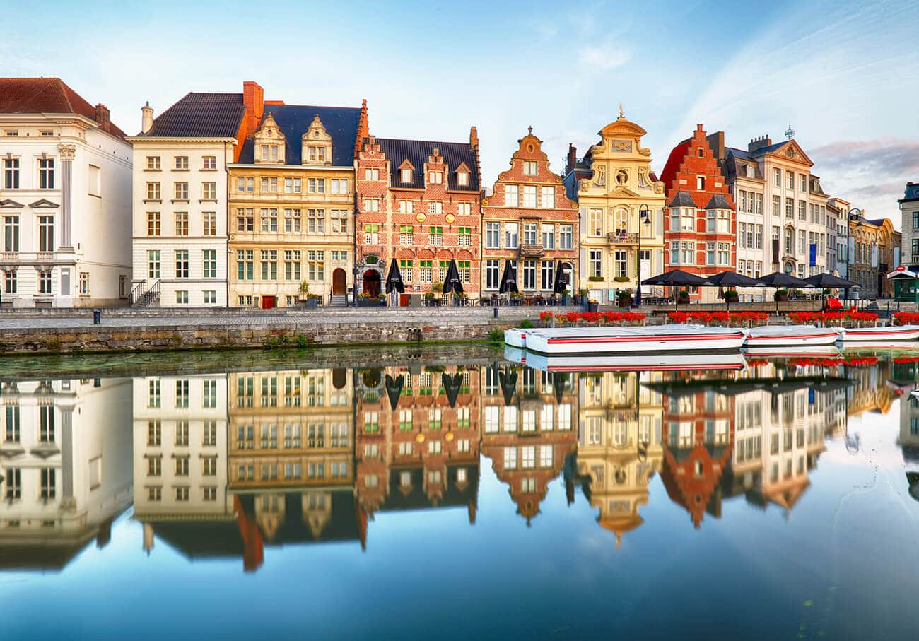 Ghent, a beautiful European city.  Read how to make friends as a new expat!