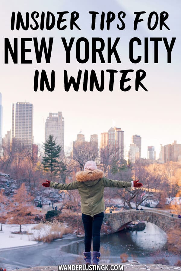 Looking for the best things to do in New York City during winter? Insider tips for visiting New York City during the most magical time of the year written by a New Yorker! #NYC #NewYork #travel #NewYorkCity
