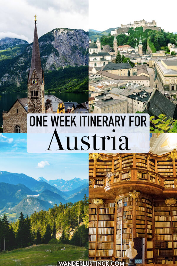 Planning your trip to Austria? Read your perfect itinerary for Austria that covers Vienna, Salzburg, and Hallstatt! Includes an itinerary for Austria in a week. #austria #vienna #travel #salzburg