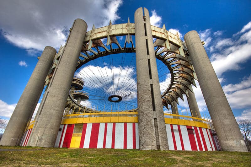 Remains of the abandoned 1964 World's Fair in Queens. This off the beaten path abandoned spot in Queens is worth a glimpse! #travel #newyork