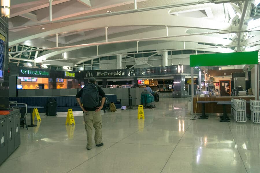 Food Court at Terminal One In JFK during an overnight layover at JFK