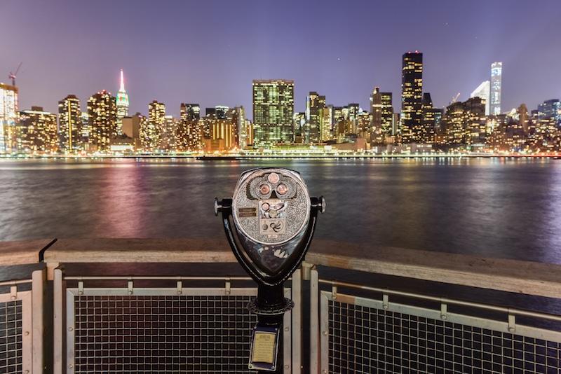 De horizon van New York tijdens een eerste reis aan de Stad van New York