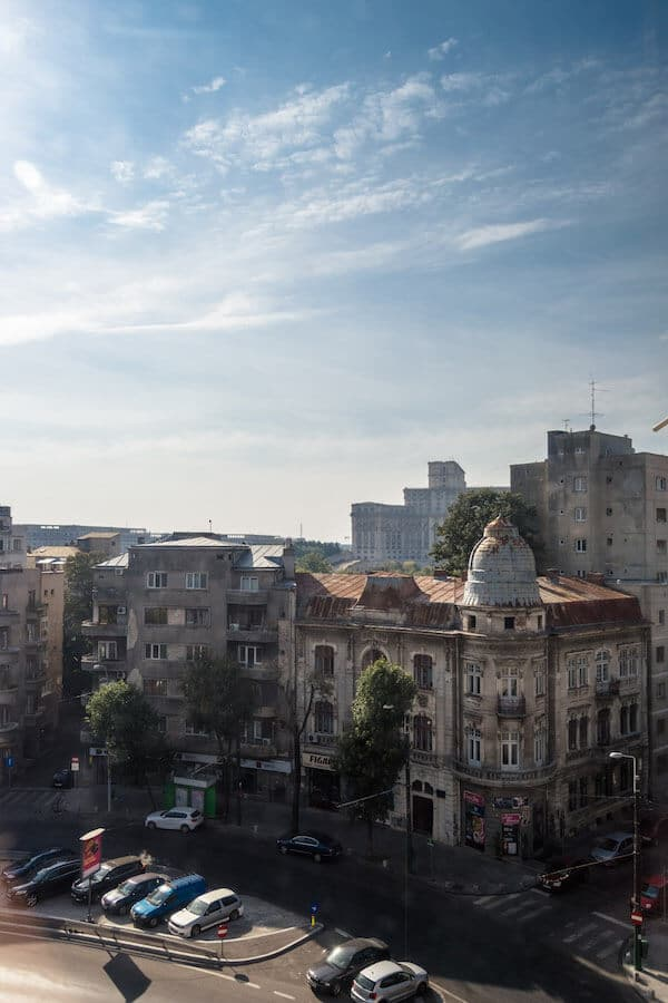 View from an Airbnb apartment in Bucharest, one of the growing digital hubs.  Read what nobody tells you about being a digital nomad!