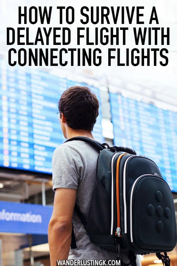 Worried about your delayed flight when you have connecting flights? Useful flying travel tips for any traveler who flies domestically or internationally! #travel #flying #airports  #traveltips