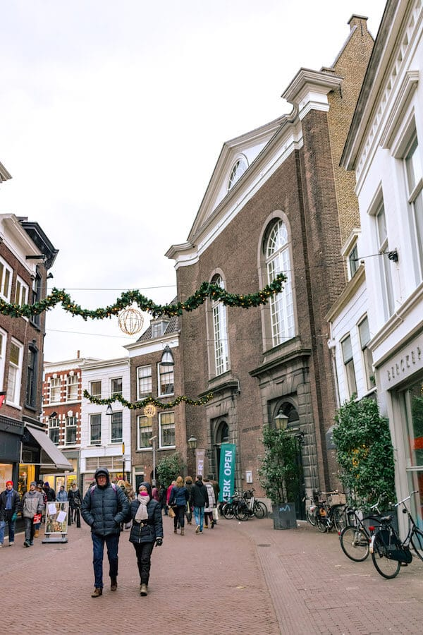 Beautifully decorated street in Dordrecht during December. Be sure not to miss the weekend Christmas market! #dordrecht #holland #travel #netherlands #kerst