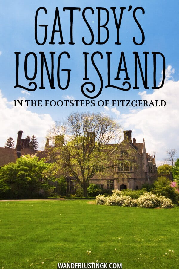 Love the Great Gatsby? Follow Fitzgerald's footsteps to see the most beautiful mansions of Long Island from the gilded age just outside of New York City! #LongIsland #Gatsby #Mansions #NewYork #travel #history