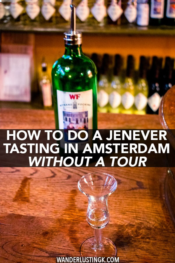 Interested in doing a jenever tasting in Amsterdam? Your guide to learning about genever, Dutch gin, in Amsterdam at one of the most authentic tasting rooms in Amsterdam! #amsterdam #holland #travel