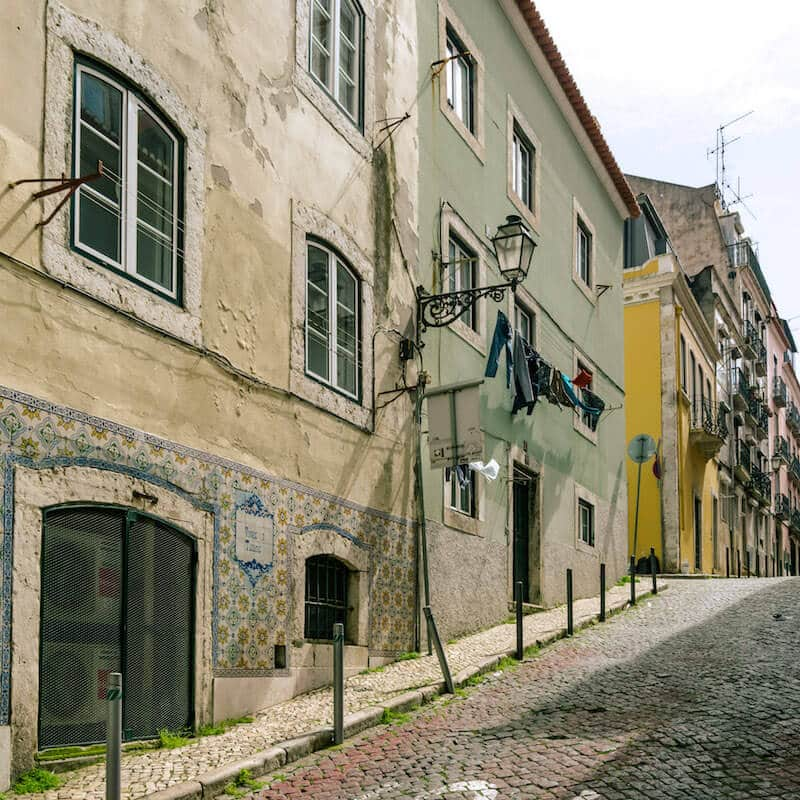 Beautiful street in Lisbon.  Nobody tells you that being a digital nomad has a downside....