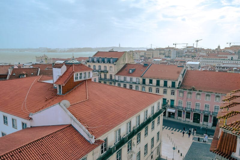 Beautiful view of Lisbon, one of the hubs for digital nomads around the world.