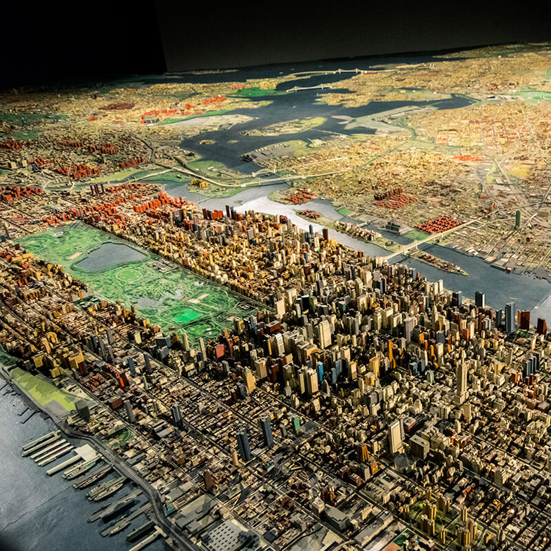 A perfectly sized and accurate miniature of New York City