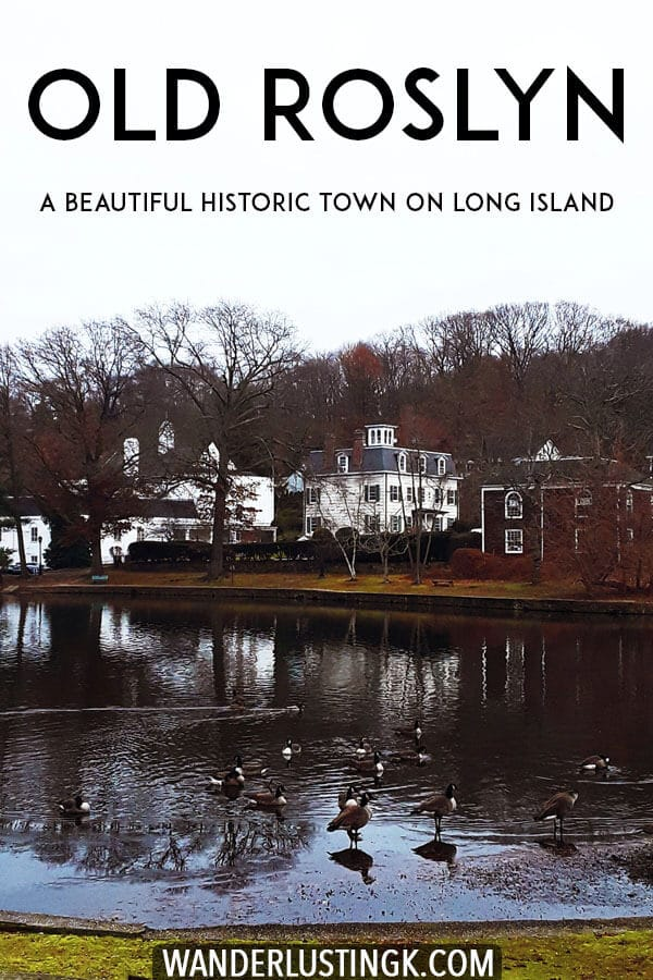 Roslyn is a hidden gem on Long Island! This beautiful village on Long Island is full of beautiful houses and old mills, perfect for a scenic day trip from New York! #travel #LongIsland #NewYork #Roslyn
