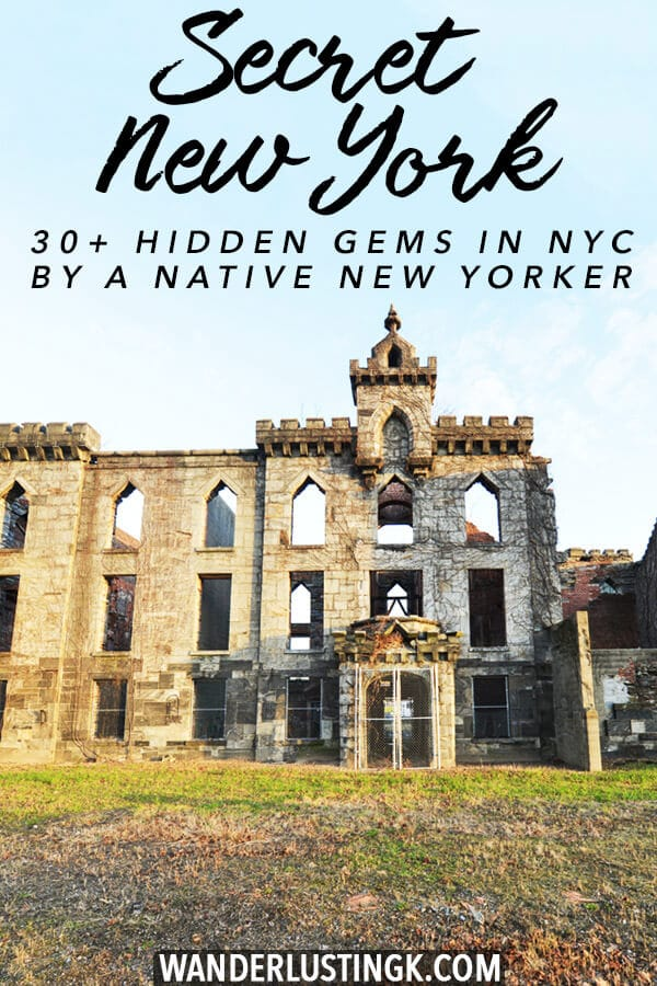 Tired of the same old places? 30+ hidden gems off the beaten path recommendations for New York City written by a native New Yorker. These secret spots won't be in your average New York guide! #travel #NYC #NewYork #NewYorkCIty