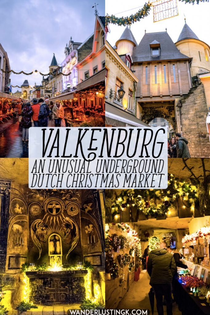 Valkenburg, the Netherlands is home to one of the best Dutch Christmas markets.  There are two underground christmas markets that take place in caves!   #travel #netherlands #limburg #valkenburg #christmas #kerst