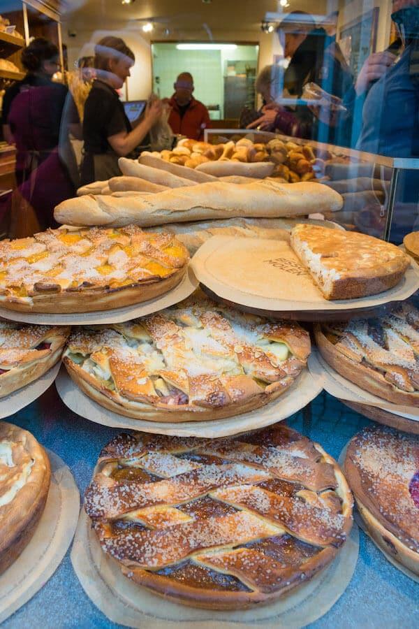 Beautiful desserts at Maastricht bakery, Bisschopsmolen.  This famous bakery serves vlaai, a Maastricht speciality. #travel #maastricht #dessert #netherlands #Limburg