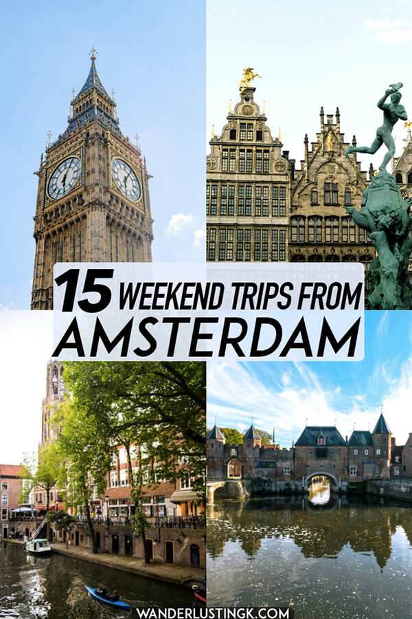Looking for somewhere else to go in the Netherlands? Insider tips for 15 tried and tested weekend trips from Amsterdam written by a Dutch resident! #netherlands #holland #amsterdam #travel