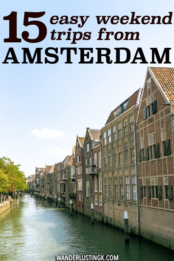 Looking for an easy weekend trip from Amsterdam by train? Insider tips by a Dutch resident for the best easy two day trips from Amsterdam to other cities in the Netherlands, Germany, and Belgium! #travel #holland #amsterdam #netherlands #brussels