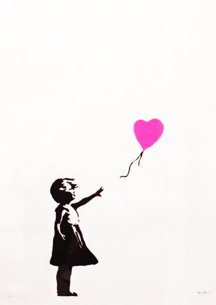 Banksy's famous girl with the balloon at the Moco Museum in Amsterdam. #banksy #art