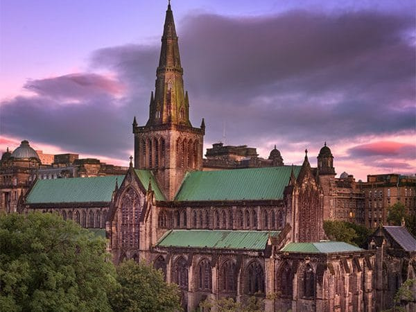 Beautiful view of Glasgow Cathedral. One of the best things to do in Glasgow, Scotland is the Glasgow Cathedral. #travel #scotland #glasgow #UK