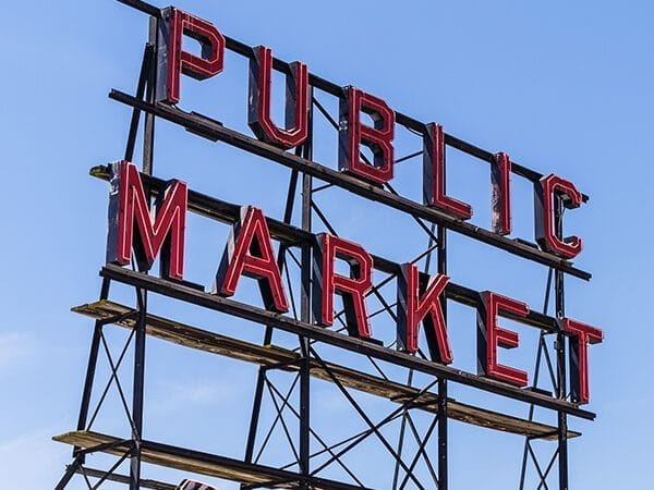 Pike Market in Capitol Hill, Seattle.