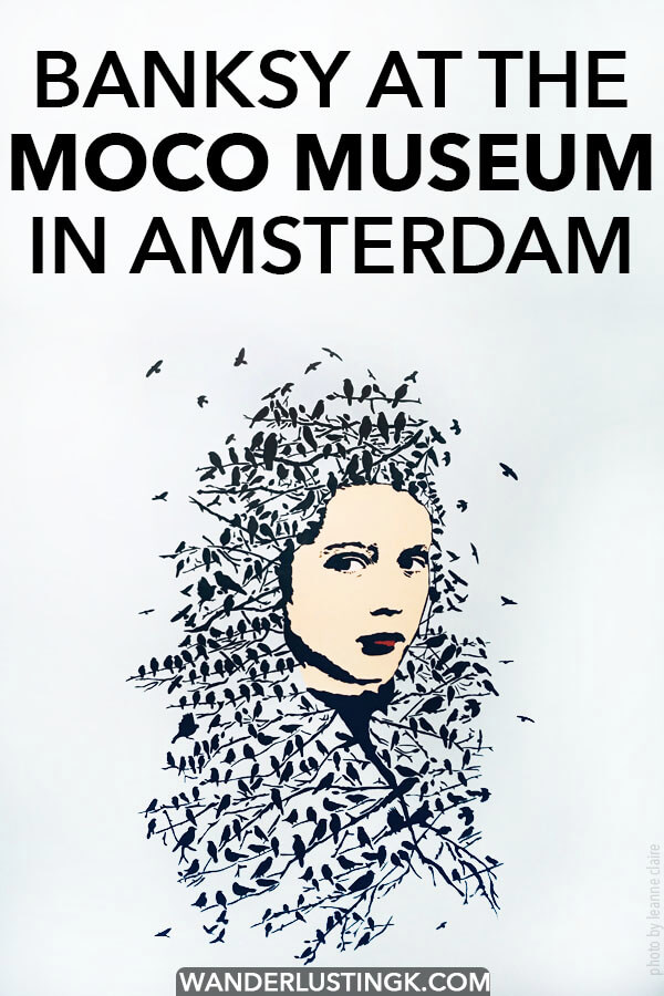 Dreaming of seeing Banksy in person? Tips for visiting the Moco Museum in Amsterdam, a cool modern art museum! #art #amsterdam #travel #holland #netherlands #banksy