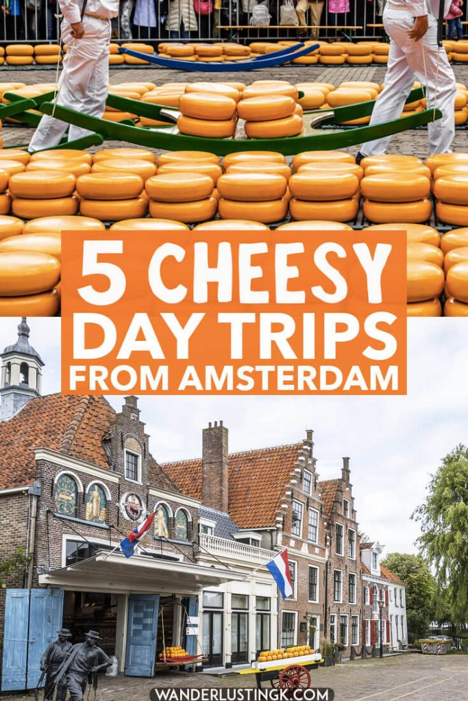 Love cheese? Your guide to the best cheese markets in the Netherlands, an easy day trip from Amsterdam. These cheese markets (mostly in Holland) are a delight for cheese lovers! #amsterdam #holland #netherlands #nederland #kaas #cheesemarket #alkmaar #edam #gouda
