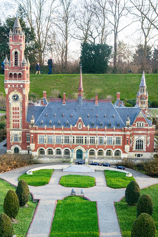 Beautiful miniature of the Peace Palace in the Hague at the Madurodam, one of the highlights of the Hague!  #hague #travel #holland