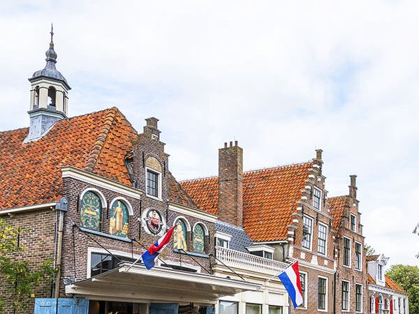 Beautiful exterior of the cheese market square in Edam where the Edam cheese market is held! #holland #netherlands #nederland #edam #cheese