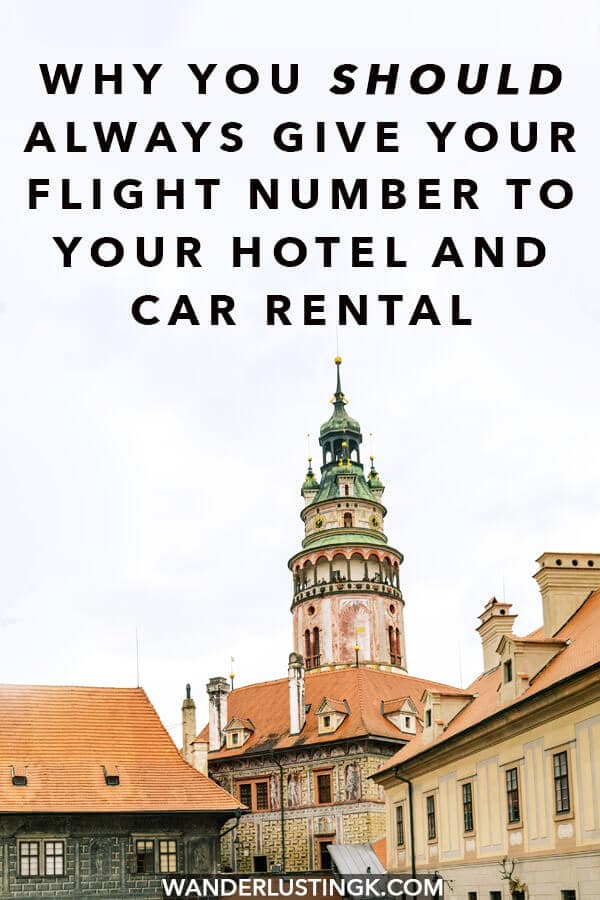Looking to avoid travel mistakes? Read why you should always give you flight number to your hotel and car rental when booking your trip! #travel #traveltips