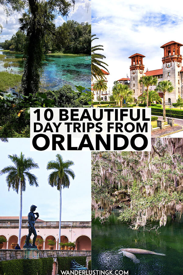 Heading to Orlando, Florida with kids and want to see something beyond Disney and Universal Studios? 10+ family-friendly and couple-friendly day trips from Orlando perfect for nature and culture lovers on a budget.  Includes seeing the Florida manatees! #travel #florida #manatees #orlando