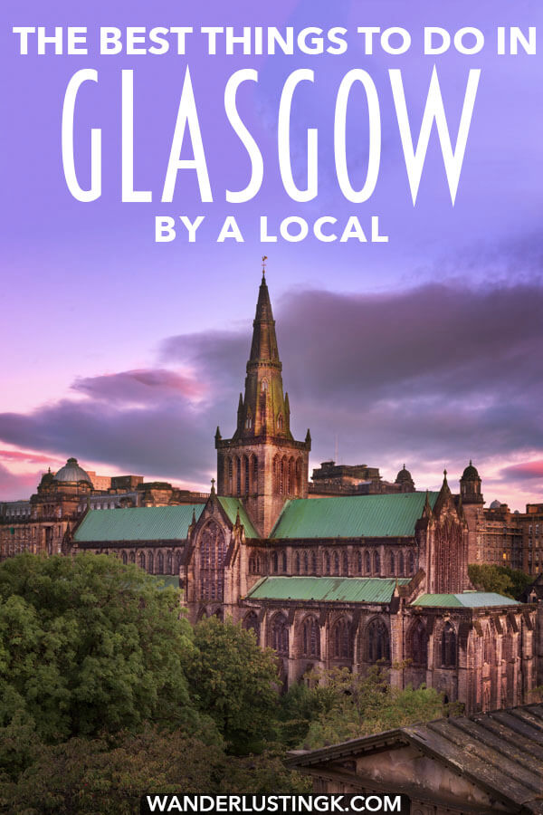 Your insider guide to Glasgow written by a local, including the best things to do in Glasgow, Scotland.  This easy day trip from Edinburgh is worth a visit! #travel #scotland #glasgow #UK