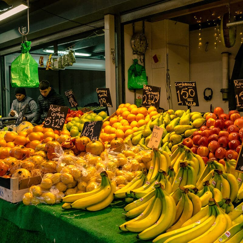 Fresh produce at the Hague Market, the best market in the Hague for fresh fruit and vegetables. #hague #holland