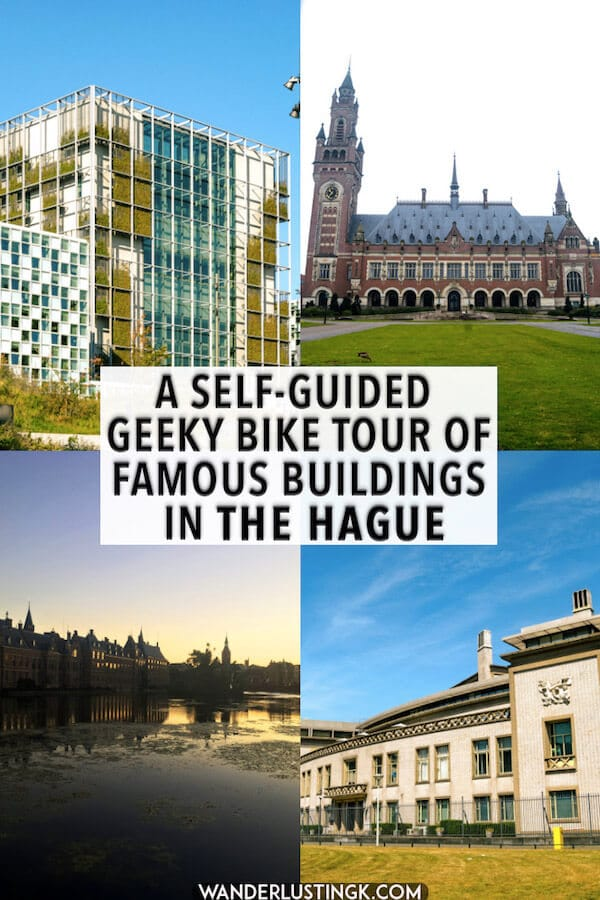 Looking for a fun activity to the Hague? Follow this FREE self-guided biking tour of the Hague covering the highlights of the Hague, focused on politics and history. Perfect for first time visitors to the Hague! #travel #denhaag #hague #holland #netherlands #nederland #fietsen