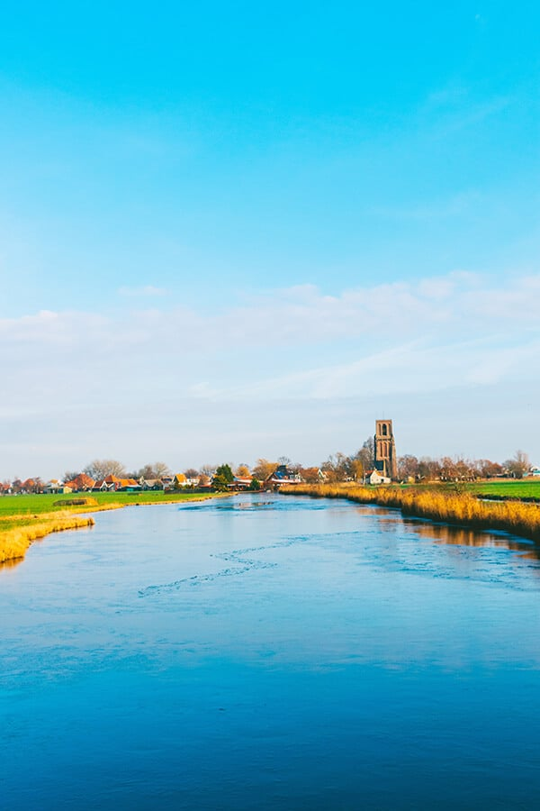 Beautiful view of Randsdorp, a beautiful village within Amsterdam.