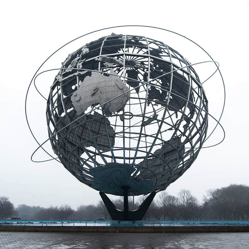 Beautiful sculpture of the Unisphere, an icon of Queens! This is the perfect spot for a selfie in New York! #travel #queens #NYC #NewYork