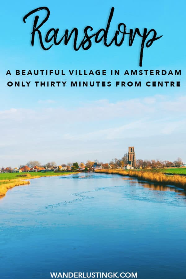 Looking for a lovely day trip from Amsterdam to see typically Dutch countryside? See a cute Dutch village in this one hour bike ride from Amsterdam by visiting Ransdorp, a picturesque village in Amsterdam! #amsterdam #holland #travel #netherlands