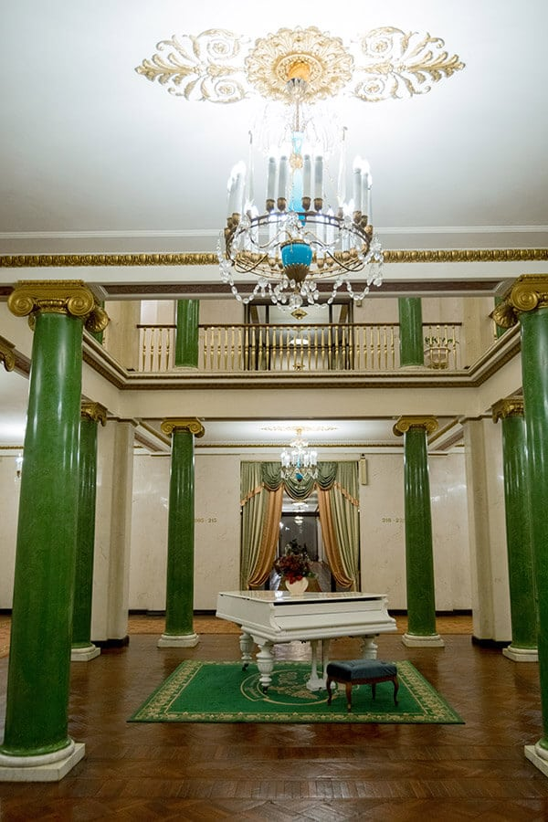 Beautiful interior of a historic hotel from Soviet times in Moscow, Russia #moscow #travel #russia
