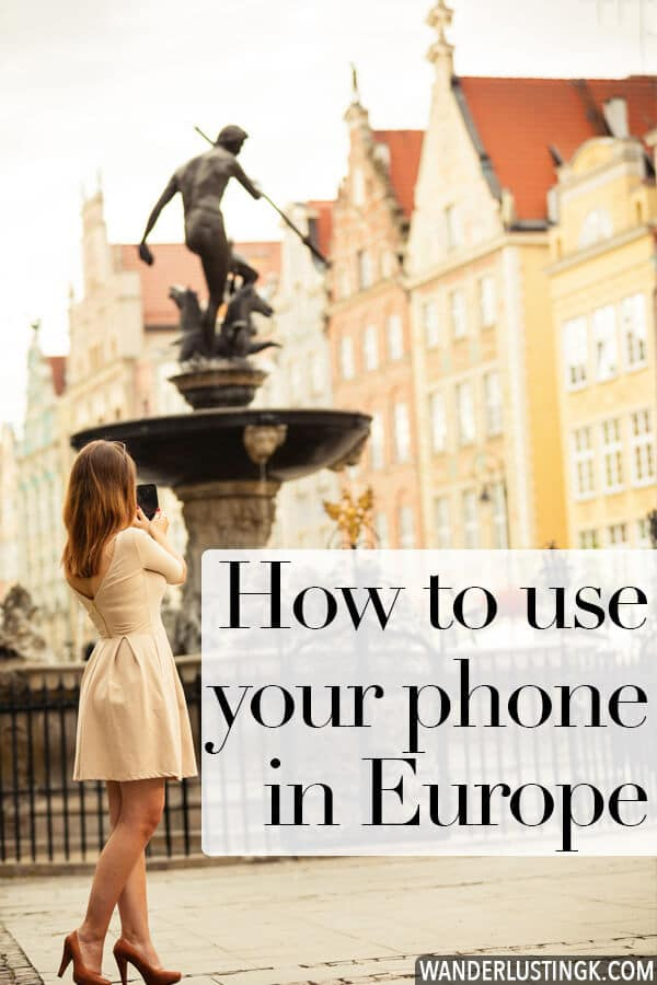 Traveling to Europe and trying to figure out if you can use your smartphone? This helpful guide covers all you need to know about using your smartphone in Europe, how to avoid extra data charges, and how to buy a SIM card in Europe. Written by an American living in Europe! #travel #europe #paris #london