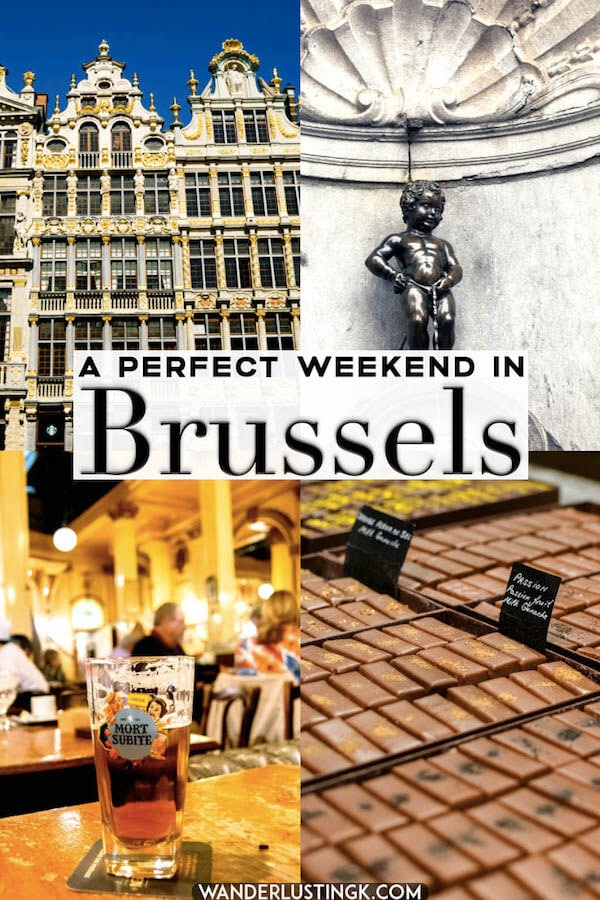 Planning a weekend trip to Brussels? Your perfect weekend guide to Brussels, Belgium including a thoughtful itinerary for two days in Brussels, Belgium.  Includes the best beer, food, and sights of Brussels! #belgium #Brussels #bruxelles #europe #travel