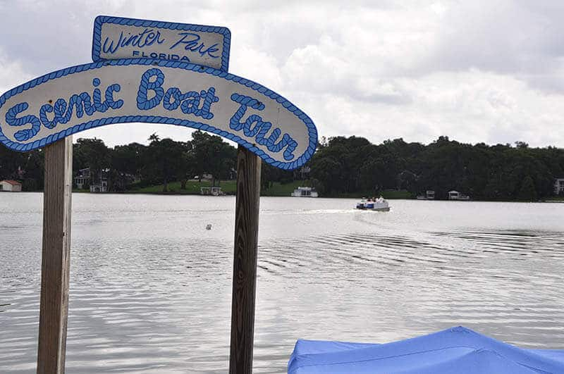 Scenic boat tour in Winter Park, Florida